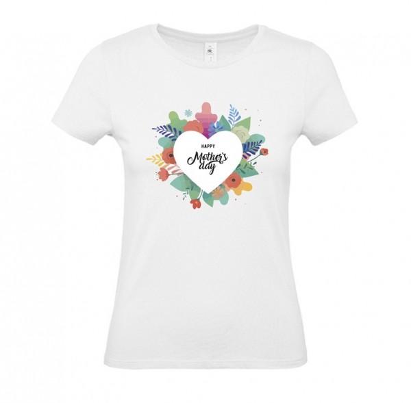 Damen Shirt White - Blumenherz