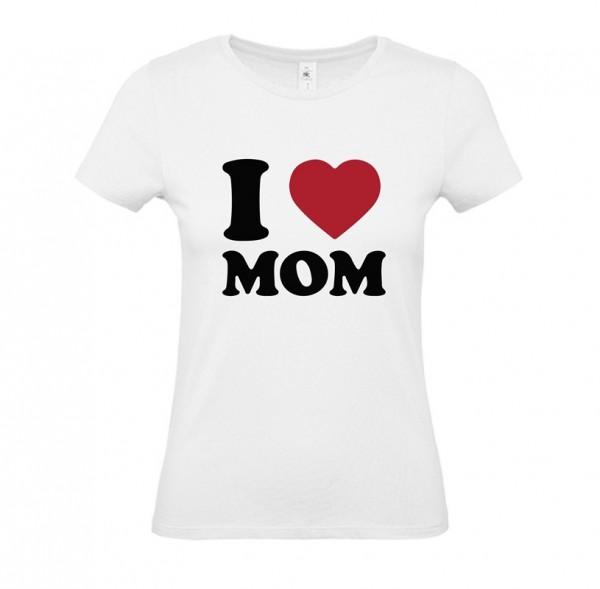 Damen Shirt White - I LOVE MOM