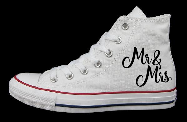 MR+MRS Weiß - links außen - Converse