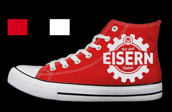 Eisern Union Zahnrad Schuhe links Aussen rot