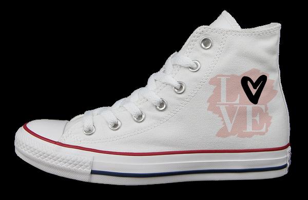 LOVE HERZ - Converse - Links außen
