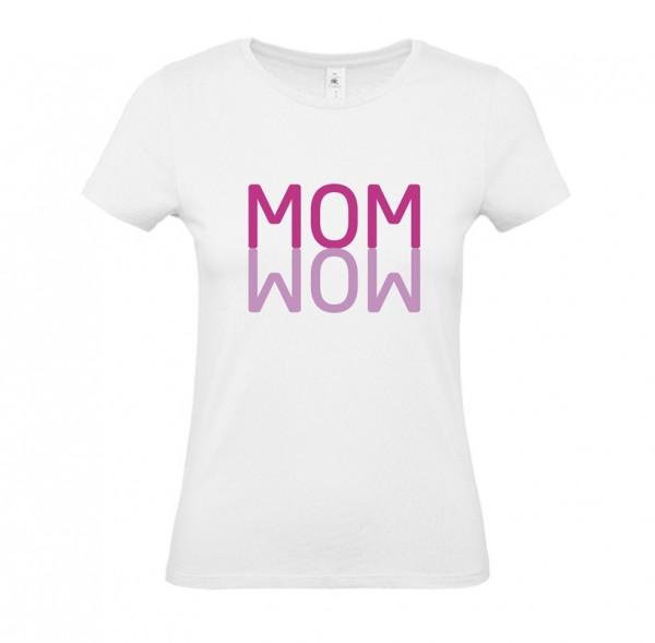 Damen Shirt White - MOM WOW