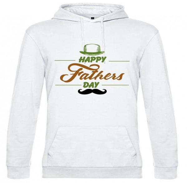 Herren Hoodie Weiss - HAPPY FATHERS DAY